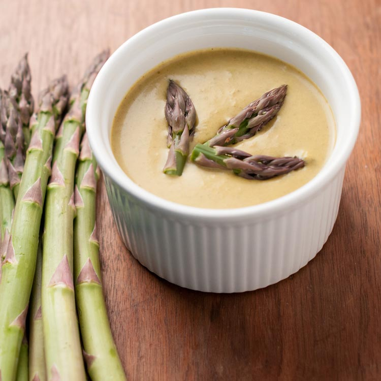 curried vegan asparagus soup