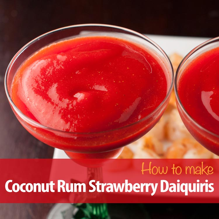 bacardi coconut rum strawberry daiquiris