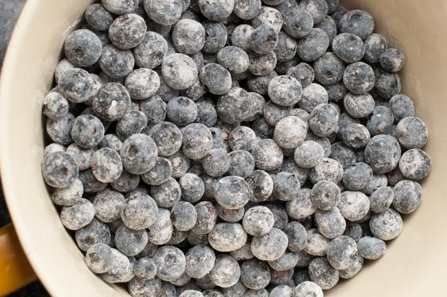 blueberries for easy blueberry crisp