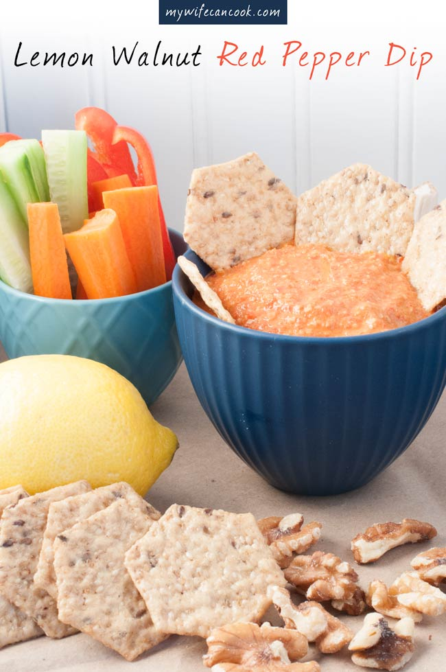 lemon and walnut red pepper dip