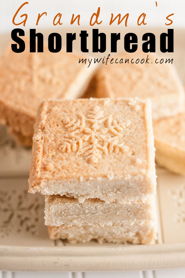 grandmas easy shortbread cookies