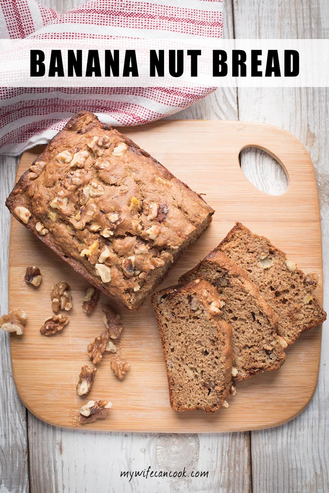 easy banana nut bread recipe with walnuts