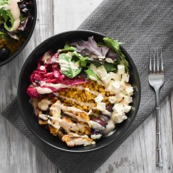 easy chicken shawarma bowl
