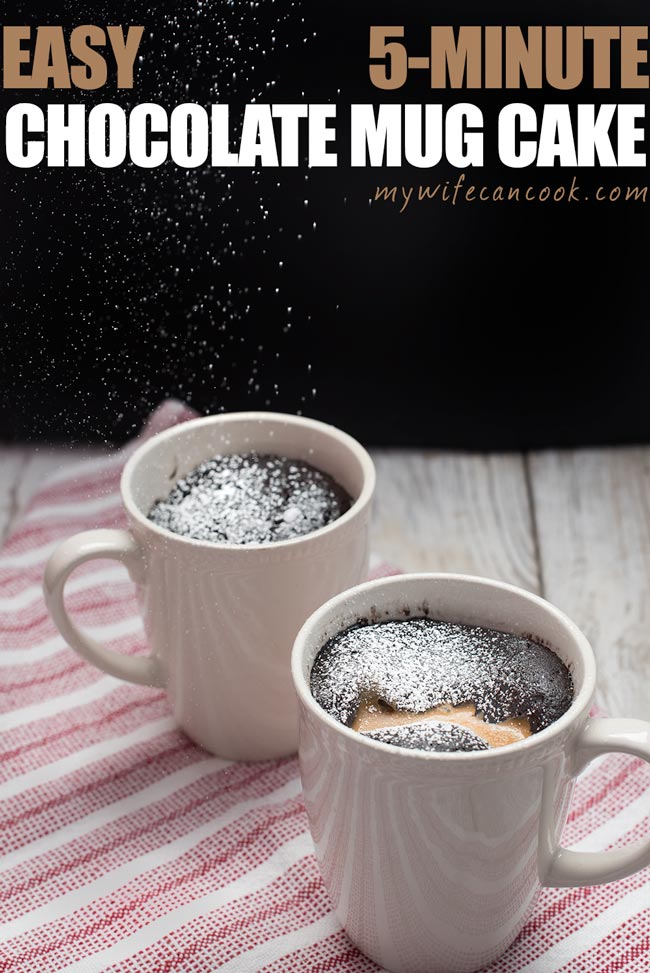 Chocolate Mug Cake - Vegan Peanut Butter Chocolate Mug Cake Ready in 5 minutes