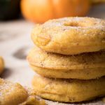 pumpkin donuts -easy homemade vegan donuts