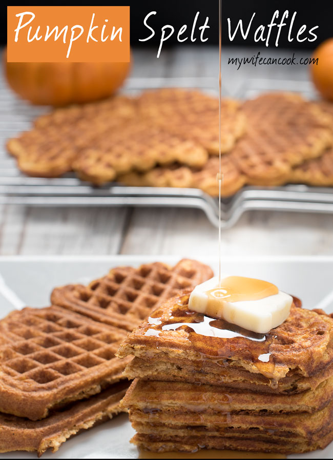 spelt pumpkin waffles easier to digest literally and figuratively