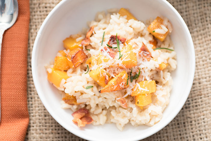 butternut squash risotto with bone broth