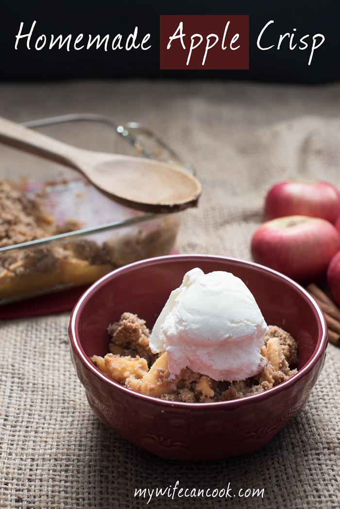 How to make homemade apple crisp