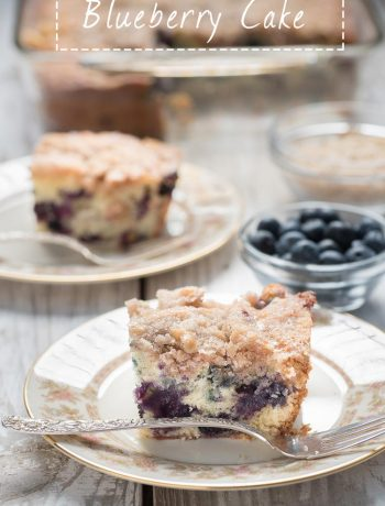 Blueberry Cake - This easy blueberry cake recipe is great as coffee cake or dessert