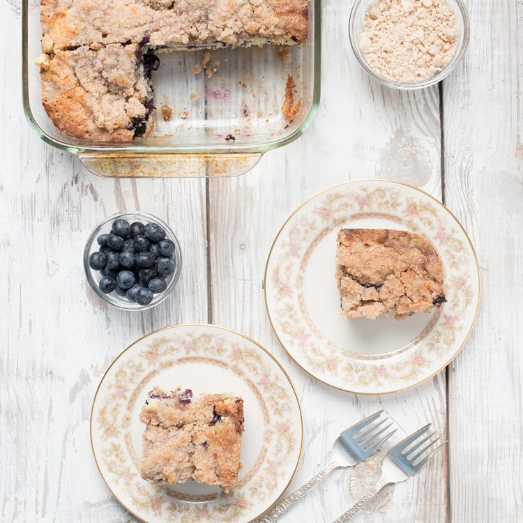 blueberry coffee cake or blueberry crumb cake