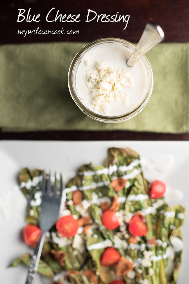 homemade buttermilk blue cheese dressing - works great as a salad dressing or a blue cheese dip