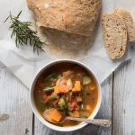easy spicy vegetable soup - this spicy vegetable loaded soup features Old Bay Seasoning