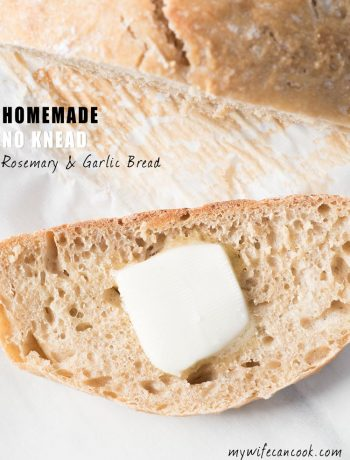 homemade rosemary bread - only 5 ingredients