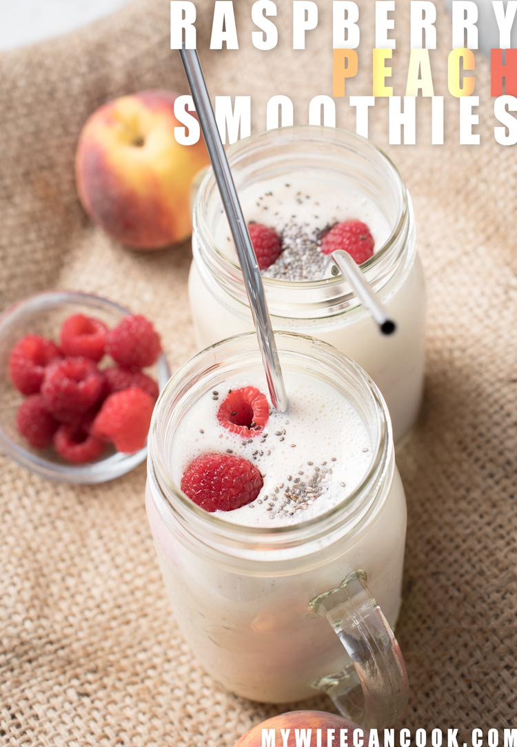 peach raspberry smoothie recipe