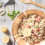 zesty quinoa salad with lemon vinaigrette