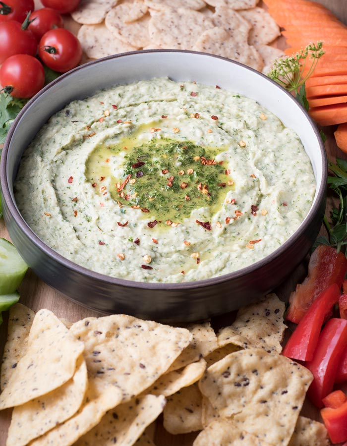 chimichurri white bean dip