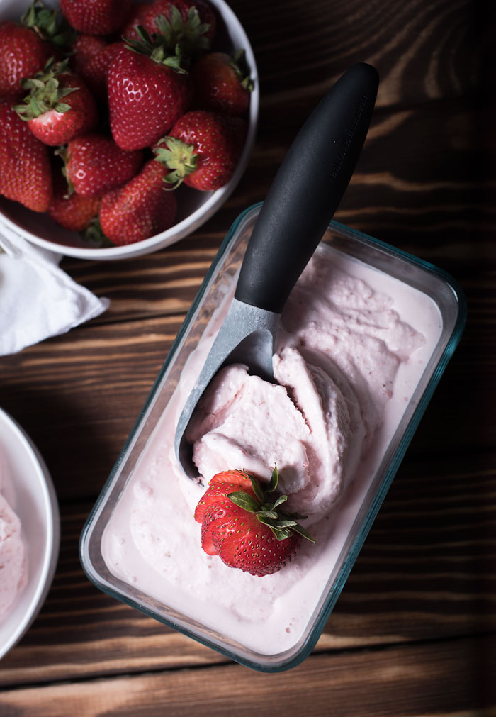 churn your own homemade strawberry ice cream