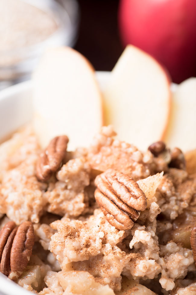 instant pot steel cut oats with pecans