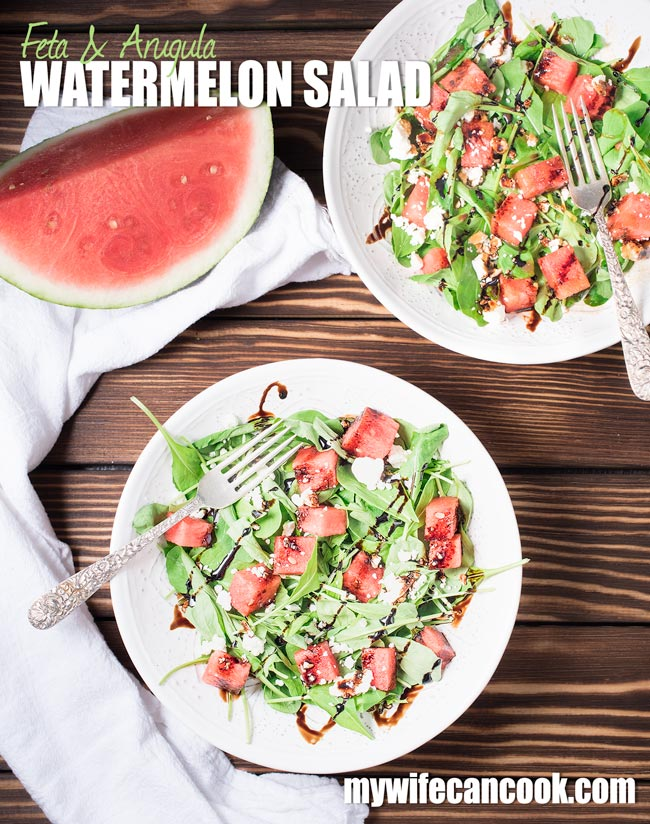 feta watermelon and arugula salad