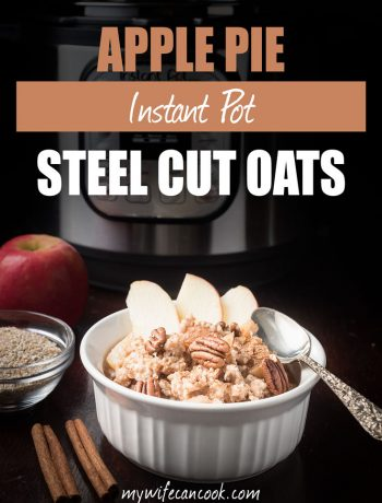 apple pie steel cut oats in the Instant Pot