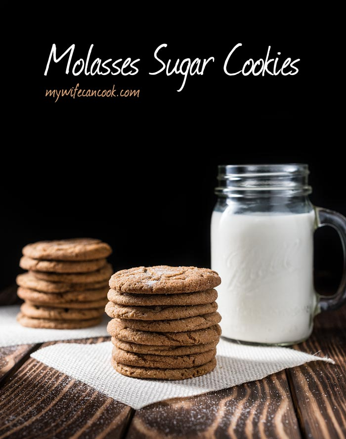 soft molasses sugar cookies - just like the old-fashioned chewy molasses cookies grandma used to make