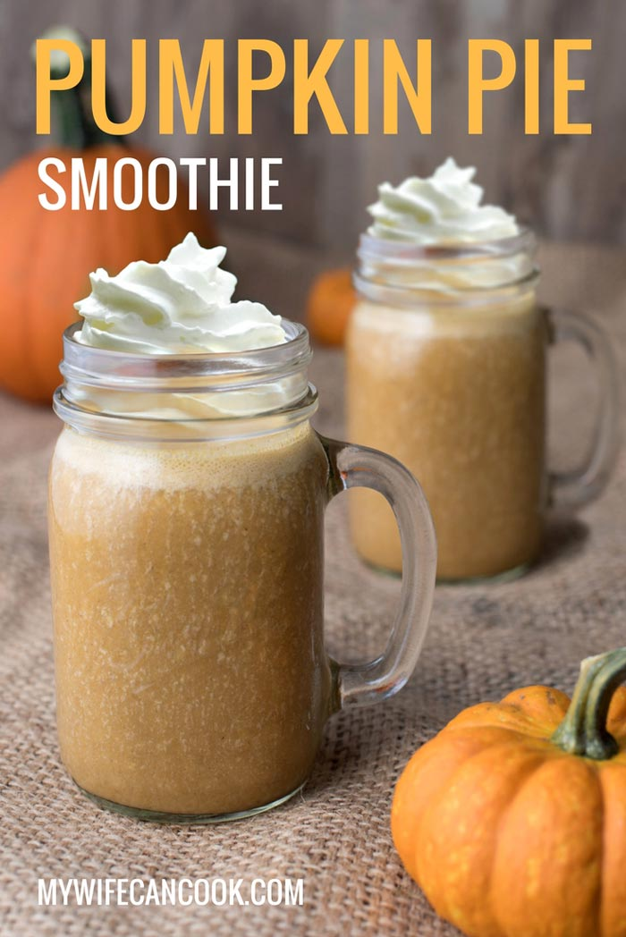 pumpkin pie smoothie - can easily be made vegan
