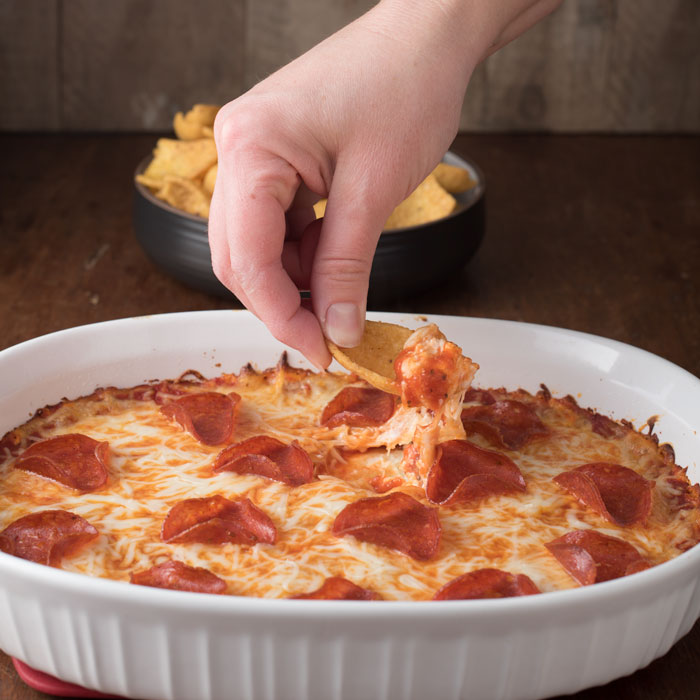 cream cheese pizza dip