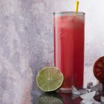 blood orange drink - a refreshing sparkling lime and blood orange mocktail