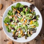 harvest fall salad with apples, walnuts, and more