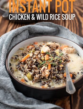 chicken and wild rice soup -- made in the instant pot