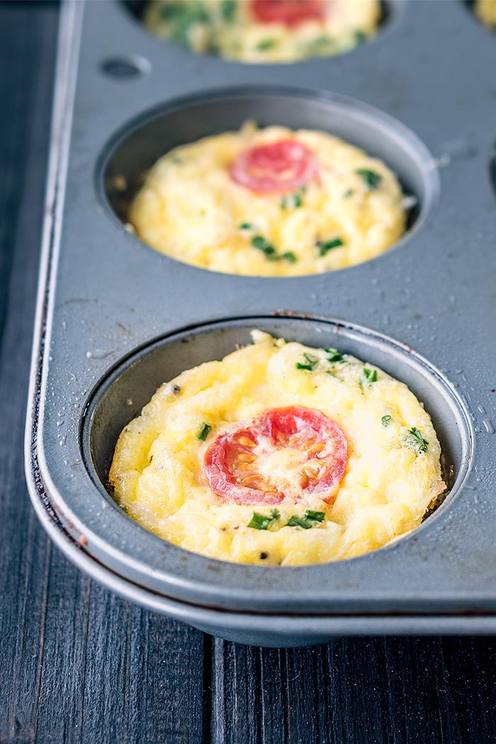 mini ham and cheese frittata