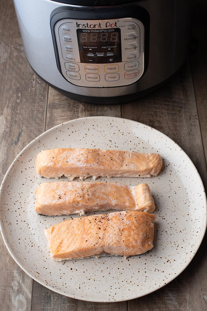 salmon prepare in an instant pot