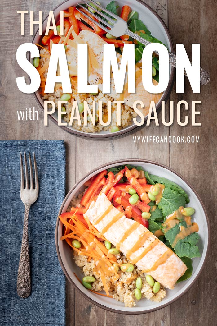 Thai salmon with peanut sauce