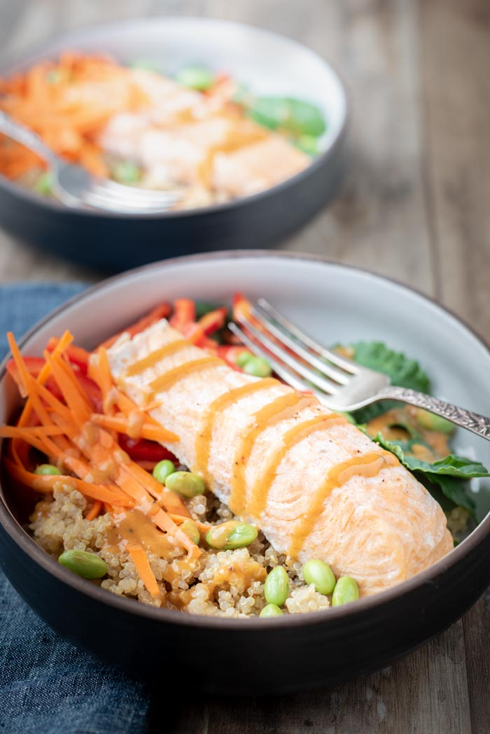 instant pot salmon bowl